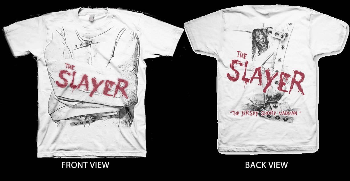 T-Shirt - Double Sided Printing (Slayer - Jersey Shore Madman)